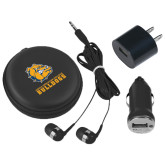 3 in 1 Black Audio Travel Kit-Jarvis Chrsitian College Bulldogs w/ Major Stacked