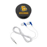 Ear Buds in Black Case-Jarvis Chrsitian College Bulldogs w/ Major Stacked