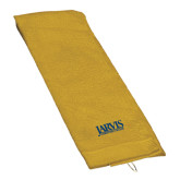 Gold Golf Towel-Jarvis Christian College - Institutional Mark