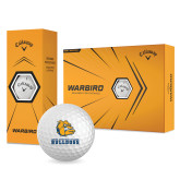 Callaway Warbird Golf Balls 12/pkg-Jarvis Chrsitian College Bulldogs w/ Major Stacked