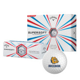 Callaway Supersoft Golf Balls 12/pkg-Jarvis Chrsitian College Bulldogs w/ Major Stacked