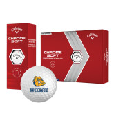 Callaway Chrome Soft Golf Balls 12/pkg-Jarvis Chrsitian College Bulldogs w/ Major Stacked