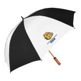 64 Inch Black/Whit Umbrella-Mom