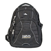 High Sierra Swerve Black Compu Backpack-Jarvis Christian College - Institutional Mark
