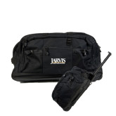 Urban Passage Wheeled Black Duffel-Jarvis Christian College - Institutional Mark