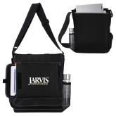 Impact Vertical Black Computer Messenger Bag-Jarvis Christian College - Institutional Mark