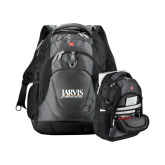 Wenger Swiss Army Tech Charcoal Compu Backpack-Jarvis Christian College - Institutional Mark