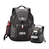 High Sierra Big Wig Black Compu Backpack-Jarvis Christian College - Institutional Mark