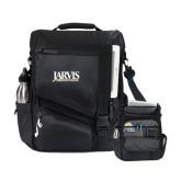 Momentum Black Computer Messenger Bag-Jarvis Christian College - Institutional Mark