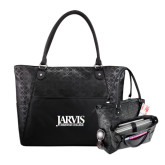 Sophia Checkpoint Friendly Black Compu Tote-Jarvis Christian College - Institutional Mark