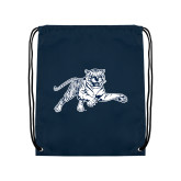 Nylon Navy Drawstring Backpack-Tiger