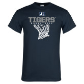 Navy T Shirt-Tigers Basketball w/ Hanging Net