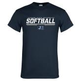 Navy T Shirt-Jackson State Softball Stencil w/ Underline