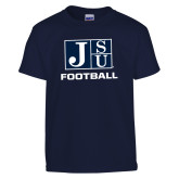 Youth Navy T Shirt-Football