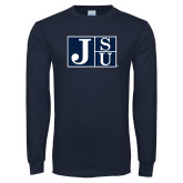 Navy Long Sleeve T Shirt-Official Logo