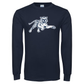 Navy Long Sleeve T Shirt-Tiger