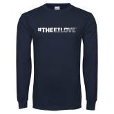 Navy Long Sleeve T Shirt-#TheeILove
