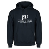 Navy Fleece Hoodie-JSU Jackson State University Stacked