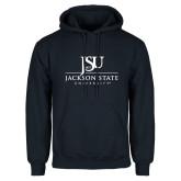 Navy Fleece Hood-JSU Jackson State University Stacked