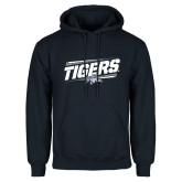 Navy Fleece Hood-Tigers Slanted w/Tiger