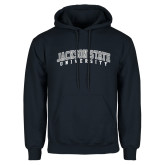 Navy Fleece Hoodie-Arched Jackson State University