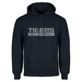 Navy Fleece Hood-Tigers Football w/ Bar