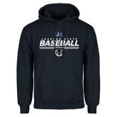 Navy Fleece Hood-Jackson State Baseball Stencil w/ Ball
