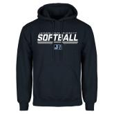 Navy Fleece Hood-Jackson State Softball Stencil w/ Underline
