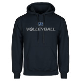 Navy Fleece Hoodie-Volleyball w/ Ball