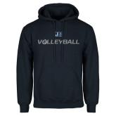 Navy Fleece Hood-Volleyball w/ Ball