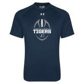 Under Armour Navy Tech Tee-Jackson State University Tigers Football Vertical