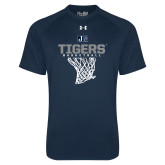 Under Armour Navy Tech Tee-Tigers Basketball w/ Hanging Net