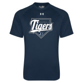 Under Armour Navy Tech Tee-Tigers Baseball w/ Script and Plate
