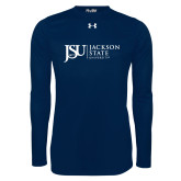 Under Armour Navy Long Sleeve Tech Tee-JSU Jackson State University