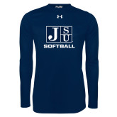 Under Armour Navy Long Sleeve Tech Tee-Softball
