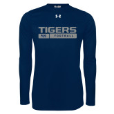 Under Armour Navy Long Sleeve Tech Tee-Tigers Football w/ Bar