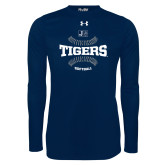 Under Armour Navy Long Sleeve Tech Tee-Tigers Softball w/ Seams