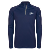 Under Armour Navy Tech 1/4 Zip Performance Shirt-Tiger