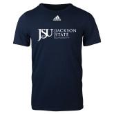 Adidas Navy Logo T Shirt-JSU Jackson State University