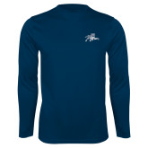 Performance Navy Longsleeve Shirt-Tiger