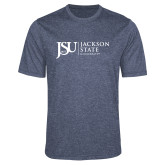 Performance Navy Heather Contender Tee-JSU Jackson State University