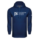 Under Armour Navy Performance Sweats Team Hood-JSU Jackson State University