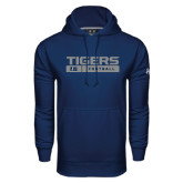 Under Armour Navy Performance Sweats Team Hood-Tigers Football w/ Bar