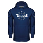 Under Armour Navy Performance Sweats Team Hoodie-Tigers Softball w/ Seams