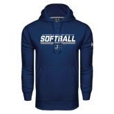 Under Armour Navy Performance Sweats Team Hoodie-Jackson State Softball Stencil w/ Underline