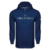 Under Armour Navy Performance Sweats Team Hood-Volleyball w/ Ball