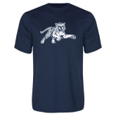 Syntrel Performance Navy Tee-Tiger