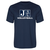Performance Navy Tee-Volleyball