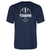 Performance Navy Tee-Jackson State University Tigers Football Vertical