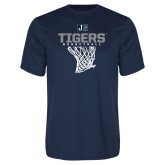 Performance Navy Tee-Tigers Basketball w/ Hanging Net
